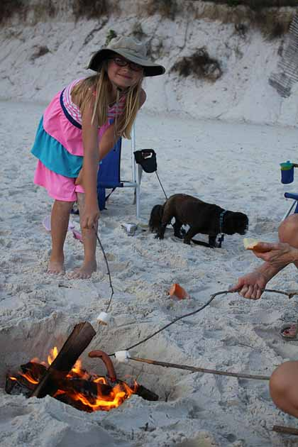 Marshmallows at the Beach