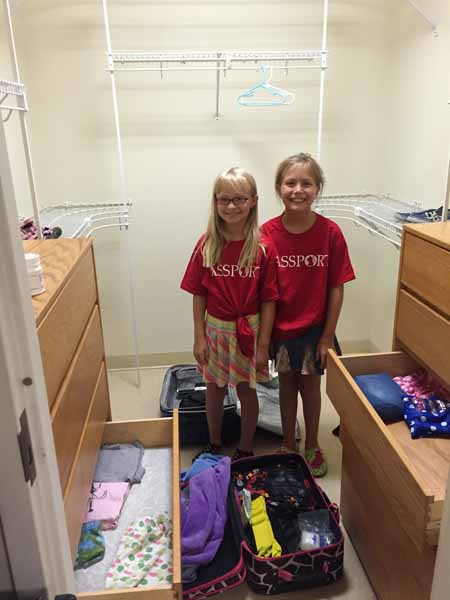 Unpacking in their Dorm
