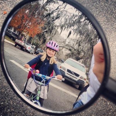 First Day Biking to School