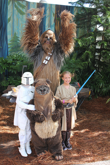 Wookies and Ewoks