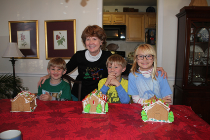 Gingerbread Houses with Boo